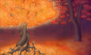 Lantern Tree of Eternal Autumn Forest by Scorpius02