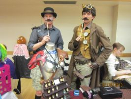 Steampunk with Mustaches by saintguardian