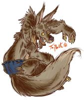 Talbot the Werewolf by Foxi-Loxy