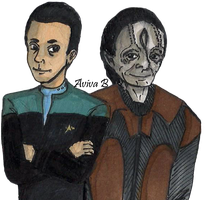 Julian Bashir and Elim Garak by hatoola13