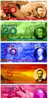 US currency redesign by marcryser