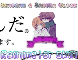 RAINMETER SKIN-Sakura and Shaoran Clock by SkinsRainmeter