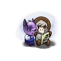 Beach and Niro read bewk by shinyfeather22