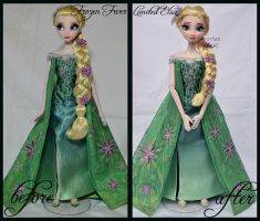 repainted ooak frozen fever limited edition elsa. by verirrtesIrrlicht