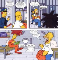 Homer Makes Fun of Bob's Hair by sclirada