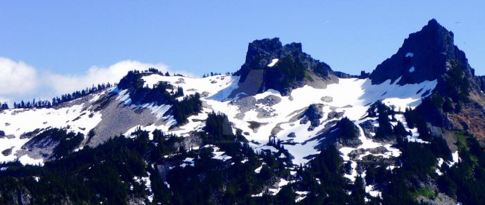 Long View of Mt. Rainer by Bluebarnowl