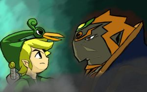Toon Link and Ganondorf by GladeNL