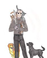 Jason and the Animals by 13foxywolf666