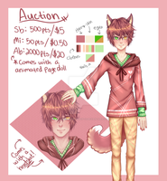 Kemonomimi adopt #13 AUCTION [CLOSED] by Lilithsleepsadopts
