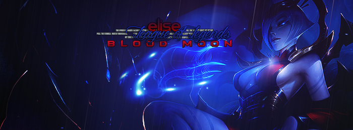 League of Legends // Blood Moon Elise Cover FB by gwannah