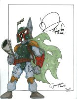 Boba Fett autographed by DanH-Art