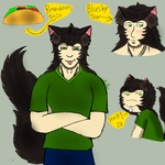 Neko!Troy Doodles by KcBarron2000