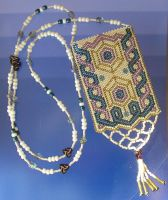 Beaded Amulet Bag by CeltCraft