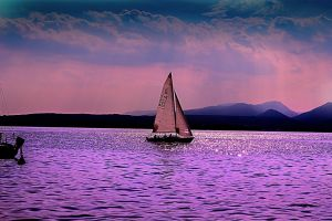 sailing in the lake by navchatrath