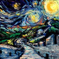 van Gogh Never Saw The Great Wall by sagittariusgallery