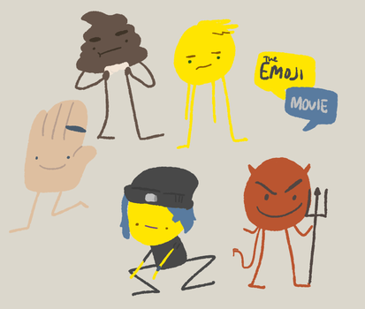 emoji movie fanart doodle thingy by dipcanister