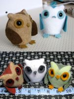 Owl Plushies by TheCrittersCove