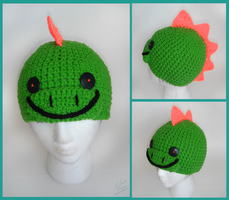 Dinosaur Crochet Hat by Silent--Haze