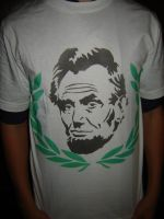 Abe Lincoln Shirt Front by Stencils-by-Chase