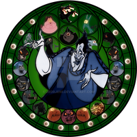 Hades stained glass by jeorje90