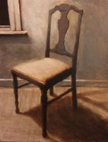 Underpainting Of A Chair by durandTHEcreator