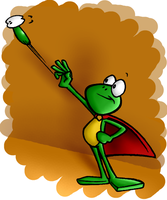 Superfrog coloured by squirminator2k
