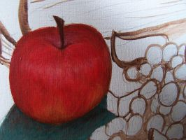 Apple Close-up by cottonball