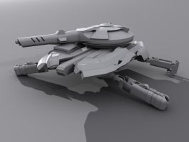 Forth Entrenched Hover Tank by DeltaCadimus