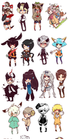 Doodles - Chibi Commissions 2. by iiJoseph