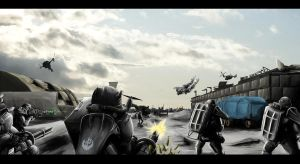 Assault on AAFB - WIP IV by paladin-rinon