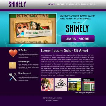 Shinely - Web Interface by bharani91