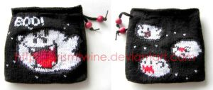 Boo knit pouch by prismtwine