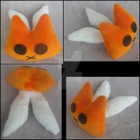 Orange and White Chibi Kitsune by A-chan--Creations