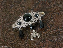 Gothic Bat hairclip by BlackWings-jewelry