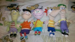 My Ed, Edd n Eddy and Phineas and Ferb plush toys by Edness-Madness