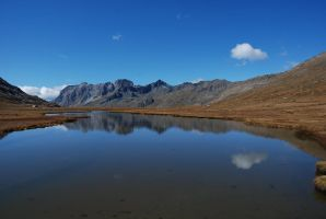 Mountain reflection by LLukeBE