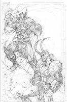 Thor Loki Commish by Kevin-Sharpe