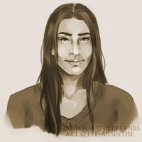 Portrait Commission: Malachai by fee-absinthe