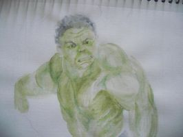 Watercolor Hulk by Armadeo