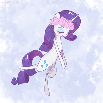 MLP in Flowers ~ Rarity by RatAnn
