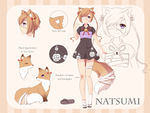 Natsumi [Reference sheet] by FeliciaSilvermoon