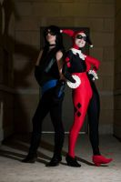 Unimpressed : Harley Quinn and Fem!Nightwing by Lossien