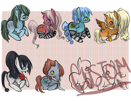 Pony Adoptables 2 - CLOSED by Alternian-Geneticist