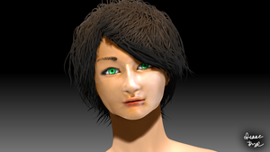 Generic Random Girl?? 3D Model Render by HomelessGoomba