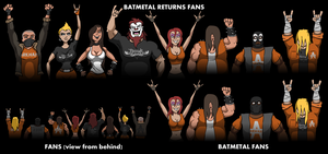 fans animated for batmetal by JackBlin
