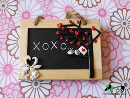 Love Chalkboard Magnet by SugiAi