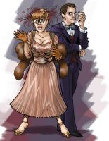 Mrs. Peacock and Prof. Plum by MrOrozco