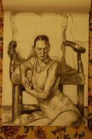 V0.8 Woman And Chair by BrightObject