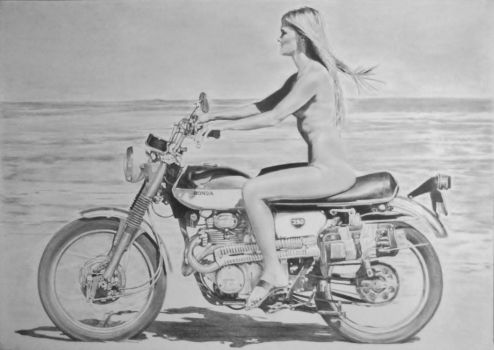 On a motorbike by stevie-wydder