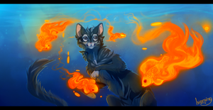 fire goldfish by hioming